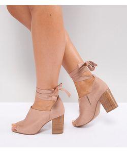 Asos | Туфли На Каблуке Для Широкой Стопы С Завязками Omen
