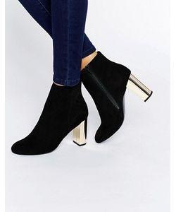 MISS KG | Ботинки На Золотистом Каблуке
