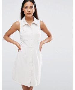 AX Paris | Платье-Рубашка В Рубчик Без Рукавов С Карманами
