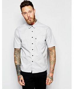 Levis Line 8 | Cерая Рубашка Классического Кроя С Короткими Рукавами И Карманом Levis Line