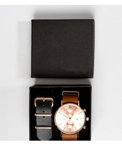 Reclaimed Vintage | Часы С Хронографом И Сменными Кожаными Ремешками
