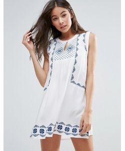 Anmol | Свободное Пляжное Платье С Вышивкой