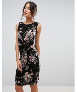 Uttam Boutique | Платье С Перекрутом На Лифе И Цветочным Принтом