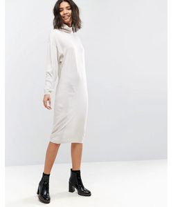 Asos | Трикотажное Платье Миди Со Свободным Воротом