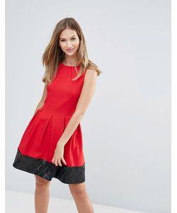 Closet London | Приталенное Платье С Пайетками На Подоле Closet