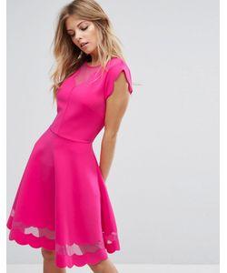 Ted Baker | Платье С Сетчатыми Вставками И Фактурной Отделкой