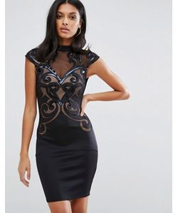 Lipsy | Облегающее Платье С Сетчатыми Вставками