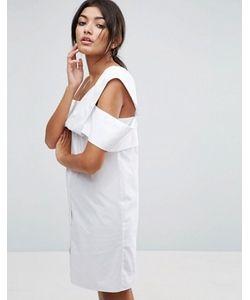 Asos | Платье На Одно Плечо Из Хлопкового Поплина