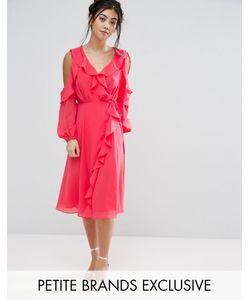 True Decadence Petite | Приталенное Платье С Открытыми Плечами И Запахом