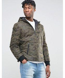 BL7CK | Куртка Из Искусственной Кожи С Камуфляжным Принтом