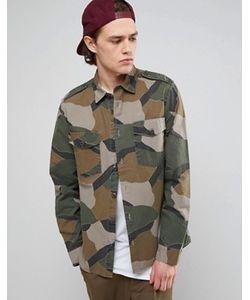 Asos | Рубашка Навыпуск С Камуфляжной Отделкой