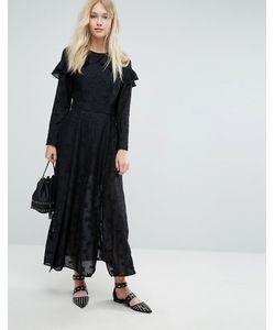 Liquorish | Платье Макси С Оборками И Вышивкой