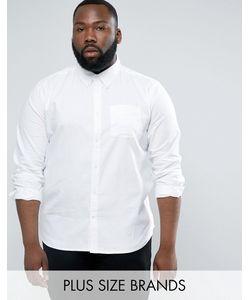 D-Struct | Хлопковая Оксфордская Рубашка С Длинными Рукавами Plus