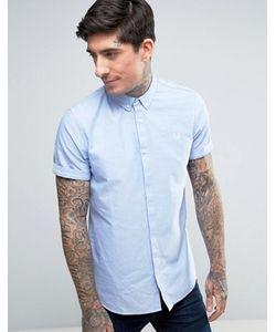 Fred Perry | Голубая Оксфордская Рубашка С Короткими Рукавами