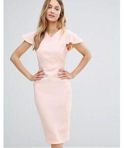 Vesper | Платье-Футляр Миди Со Структурированными Плечами