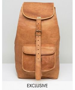 Reclaimed Vintage | Inspired Leather Backpack In Tan