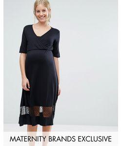 Bluebelle Maternity | Чайное Платье С Сетчатой Вставкой