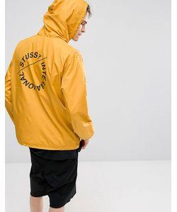 Stussy | Желтая Куртка С Принтом На Спине