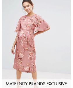 Hope and Ivy Maternity | Платье-Кимоно Макси С Цветочным Принтом Hope Ivy Maternity