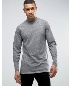 D-Struct | Panelled Long Line Long Sleeve Top