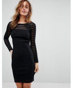 SuperTrash | Облегающее Платье В Рубчик