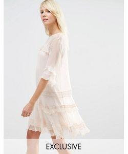 Needle & Thread | Шифоновое Платье С Рюшами