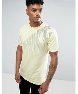 Nike | Желтая Футболка С Большим Логотипом 897143-042