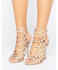 STEVE MADDEN | Slithur Blush Caged Heeled Sandals
