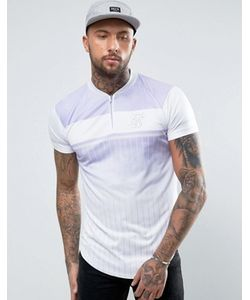 SikSilk | Retro T-Shirt In With Zip