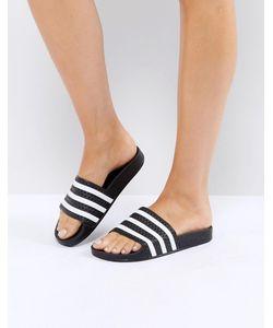 Adidas   Черные Сандалии Originals Adilette