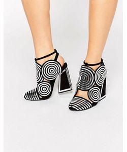 Kat Maconie | Черные Кожаные Туфли На Каблуке Со Спиралевидным Дизайном Frida