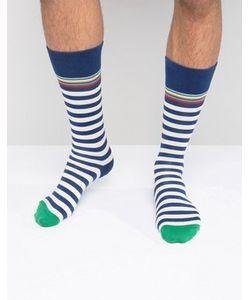 Paul Smith | Классические Носки В Сине-Белую Полоску
