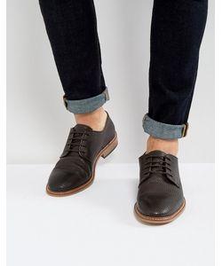 Asos | Кожаные Туфли Дерби С Тисненой Отделкой