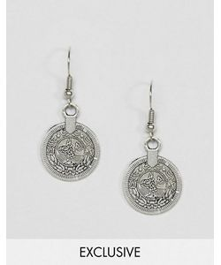 Reclaimed Vintage | Inspired Coin Drop Earrings