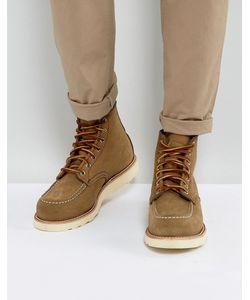 Red Wing   Оливковые Замшевые Ботинки 6 Inch Classic