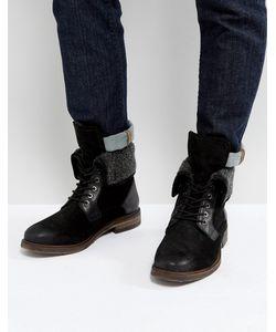 STEVE MADDEN   Черные Теплые Ботинки Из Замши