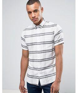 Solid   Рубашка В Крупную Клетку С Короткими Рукавами