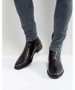 Aldo   Черные Кожаные Ботинки Челси Vianello