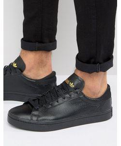 adidas Originals | Черные Кроссовки Court Vantage