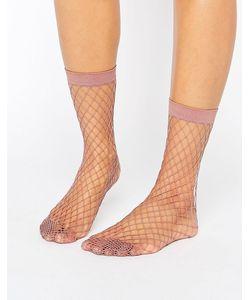 Asos | Сиреневые Носки В Крупную Сетку