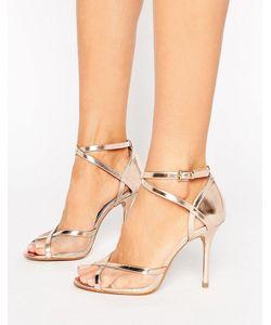 Head Over Heels | Босоножки На Каблуке Цвета Розового Золота By Dune