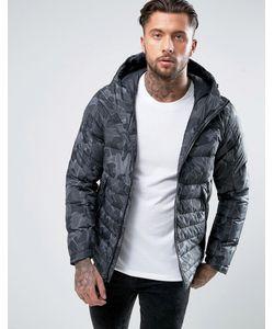 Nike | Черная Дутая Куртка С Капюшоном 806857-010