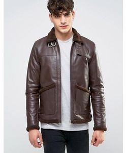 Asos | Кожаная Куртка С Подкладкой Из Искусственного Меха