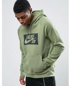 Nike SB | Худи Зеленого Цвета С Логотипом Icon 837932-387