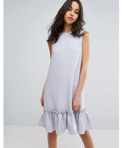 LOST INK | Цельнокройное Платье С Оборкой И Отделкой Из Искусственного Жемчуга