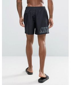 Nike | Черные Шорты Для Плавания С Принтом Логотипа Сзади
