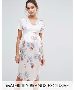 Hope and Ivy Maternity | Облегающее Платье Миди С Цветочным Принтом Hope Ivy Maternity