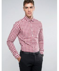 Asos   Узкая Эластичная Рубашка В Красную Клеточку