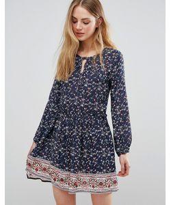 Qed London | Цельнокройное Платье С Принтом
