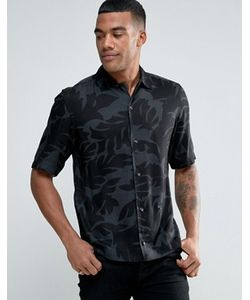 Diesel | Рубашка С Короткими Рукавами И Лиственным Принтом S-Westy